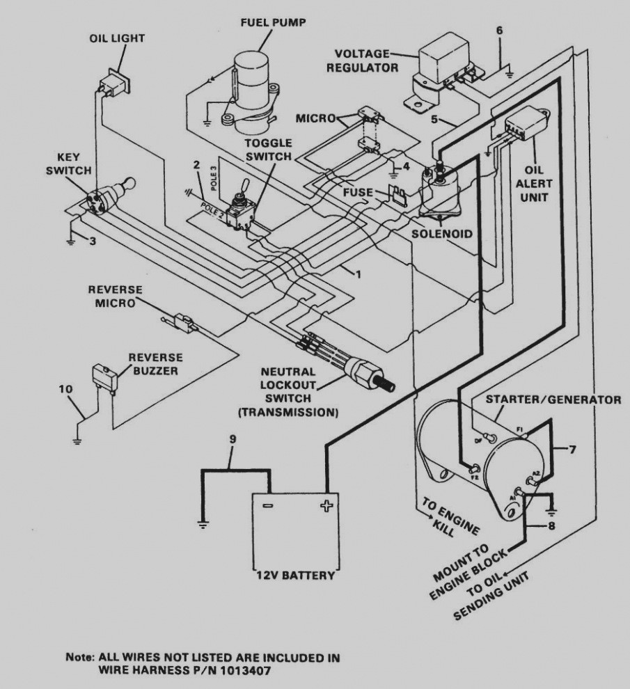 club car electric diagram for 1998 wiring diagram work 48 Volt Cushman Wiring Diagram
