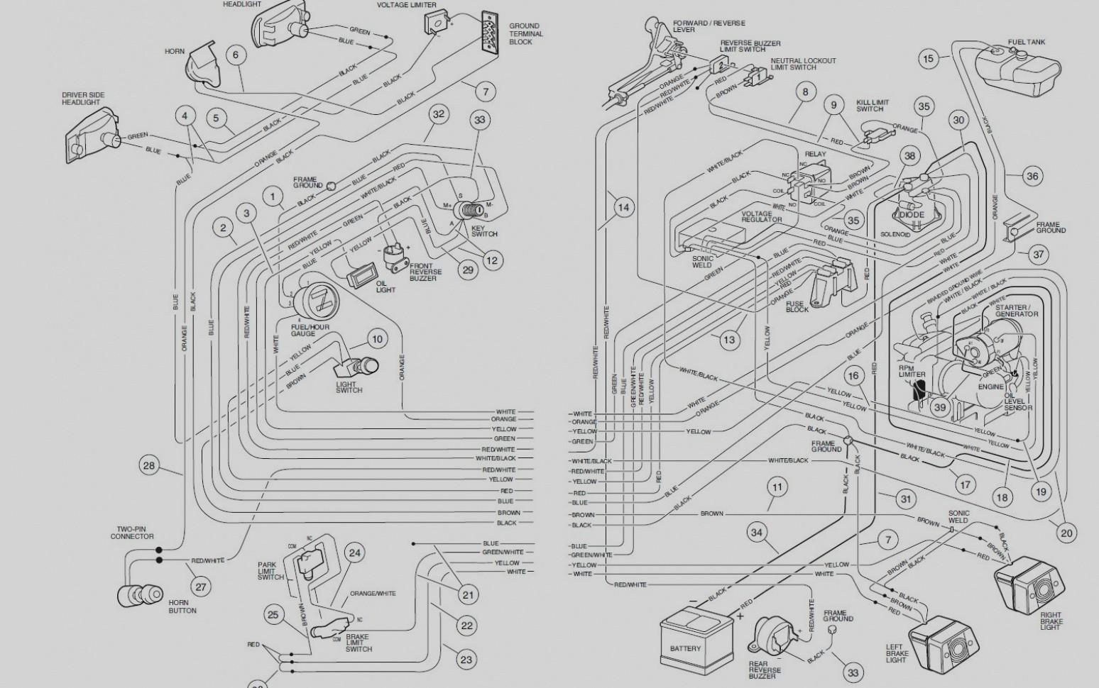 Beautiful Club Car Ds Gas Wiring Diagram Astonishing 39 With Additional Hvac