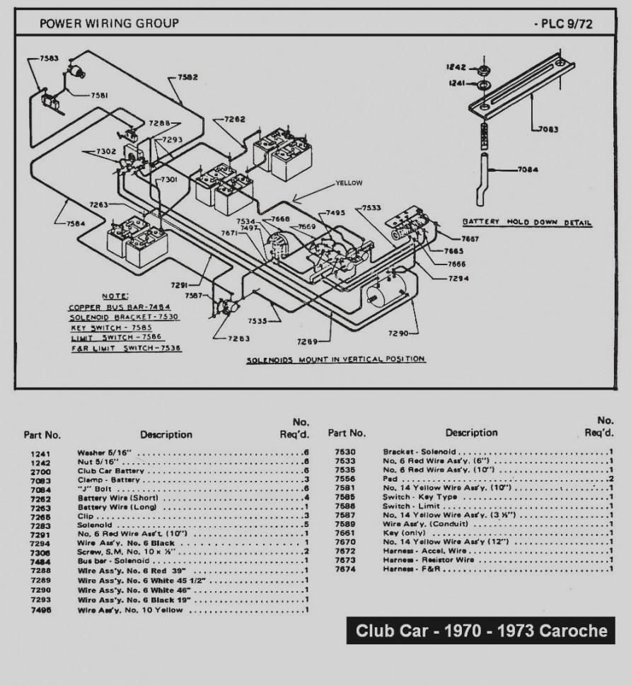 Collection 94 Club Car Golf Cart Wiring Diagram Caroche Diagrams Schematics