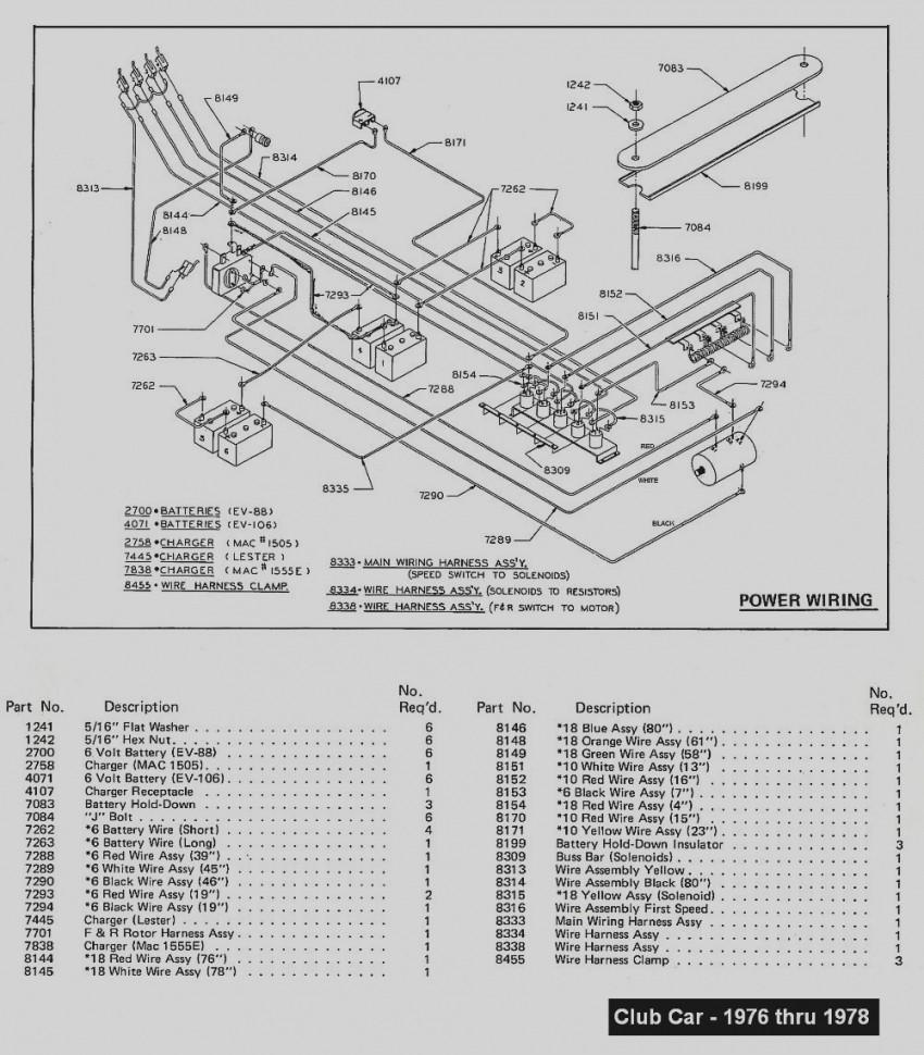 New 94 Club Car Golf Cart Wiring Diagram Caroche Diagrams Schematics
