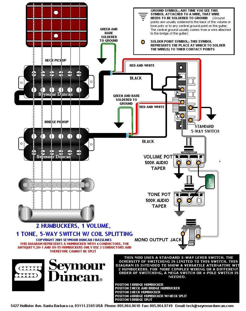 Dimebucker Wiring Diagram Schematic Coil Split Seymour Duncan Schematics Sh 13 Diagrams Ibanez 5 Way