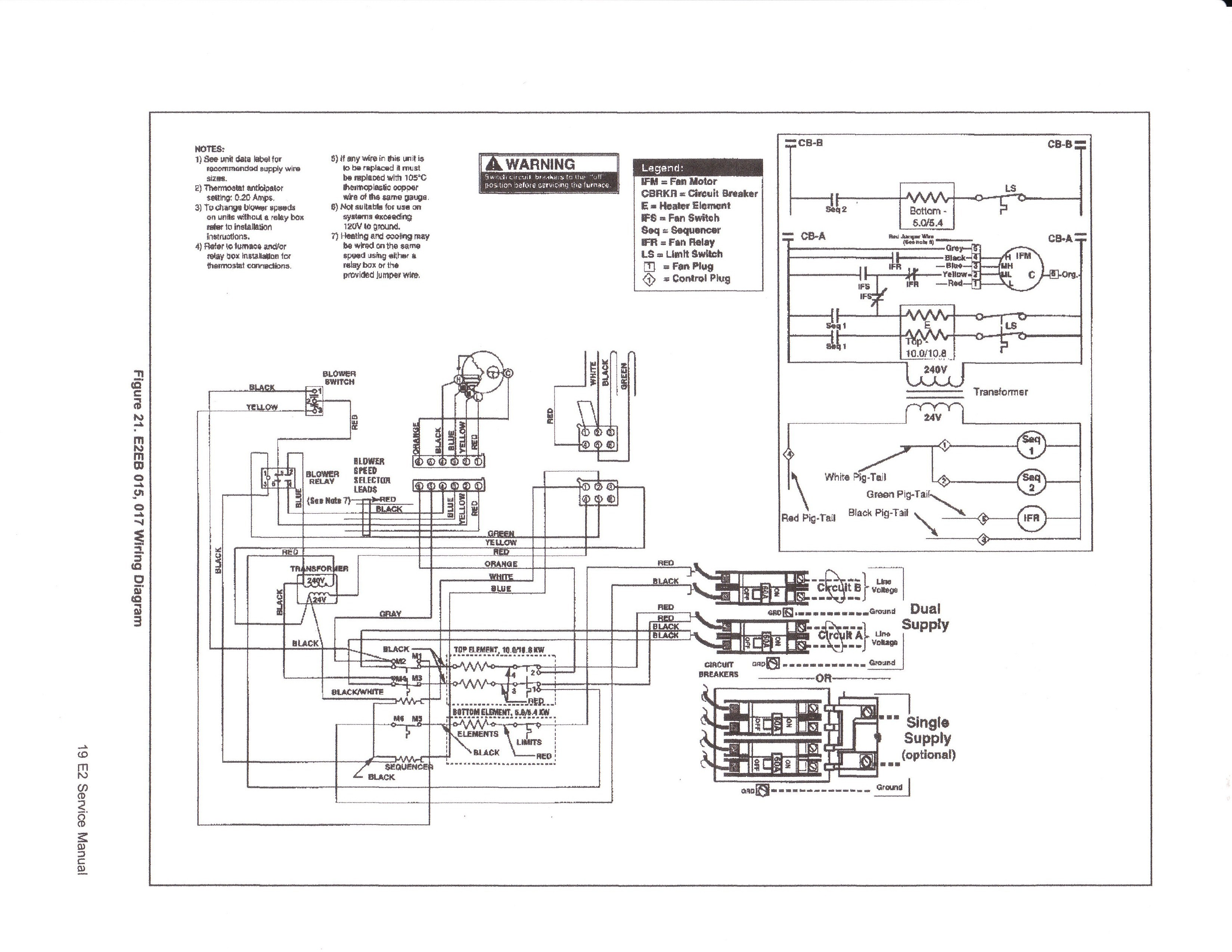 32 Coleman Electric Furnace Wiring Diagram