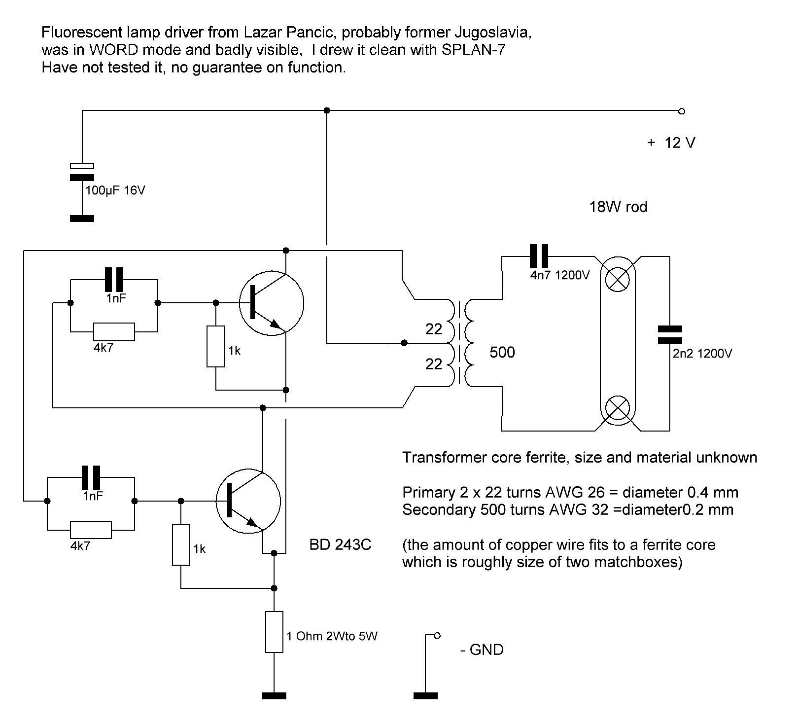 Compact Fluorescent 4 Pin Wiring Diagram Electrical Diagrams Led Lamp Circuit Image