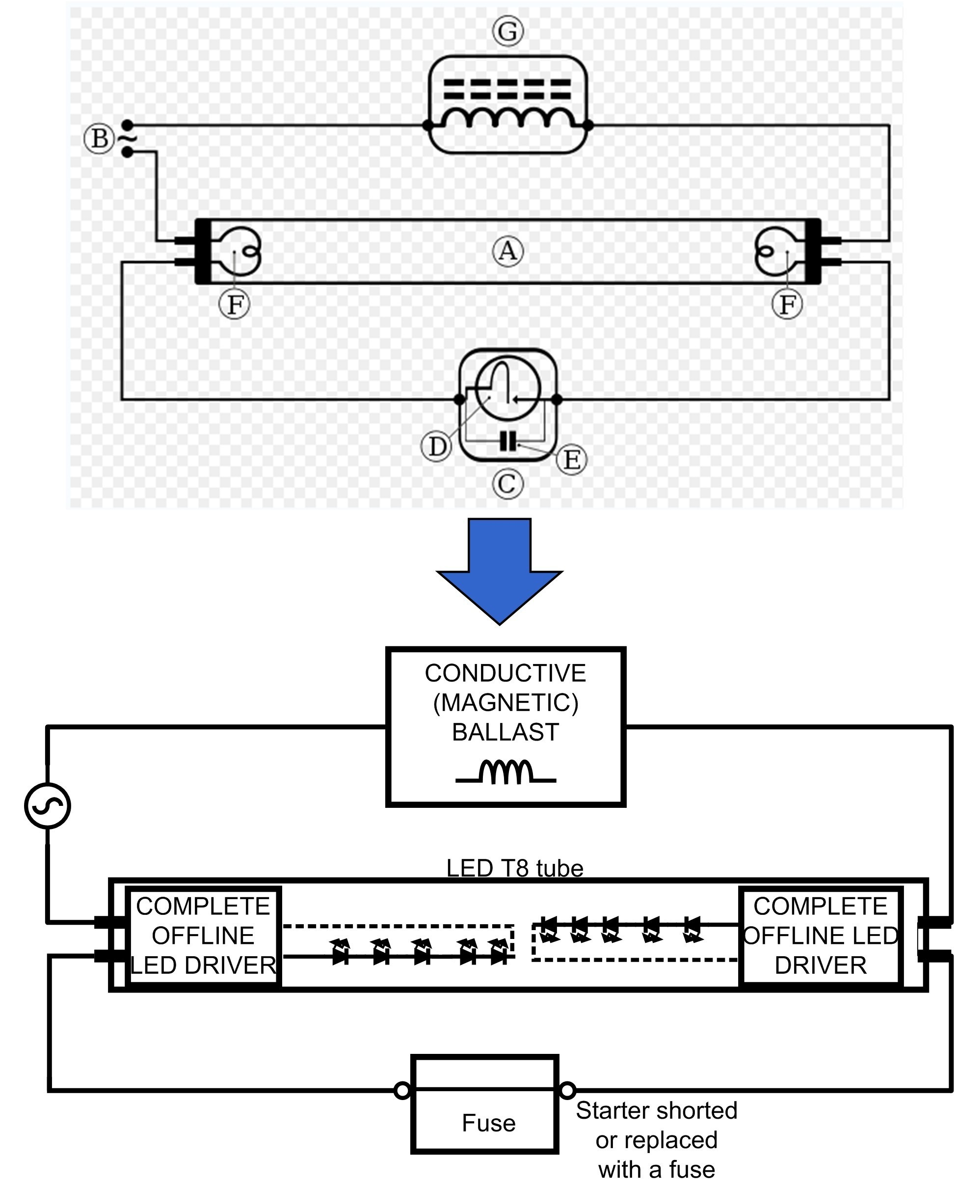 Wiring Diagram Led Tube Philips Best Great T8 Led Wiring