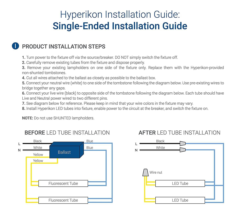 Convert Fluorescent to Led Wiring Diagram Fresh Hyperselect T8 T10 T12 Glass 4ft Led Tube Light