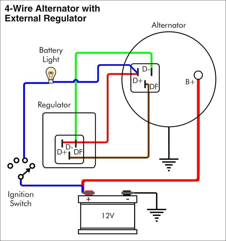 Car Alternator Wiring Diagram Delco Gm 2 Wire To 4 10si Cs130 Amazing For 960x1024