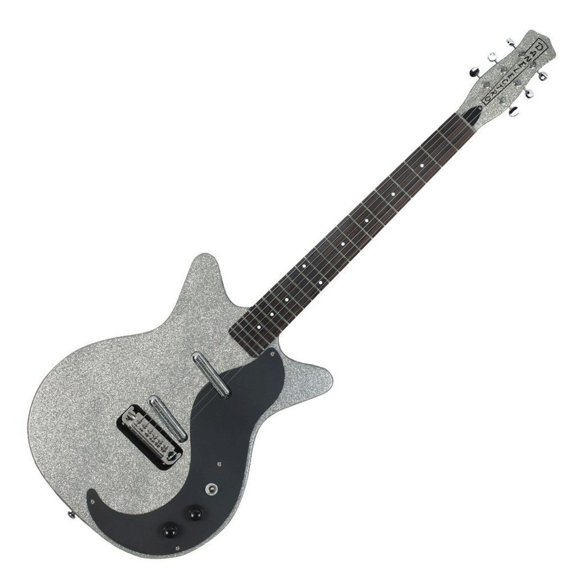 Danelectro DC59 MJ Electric Guitar Silver Metal Flake