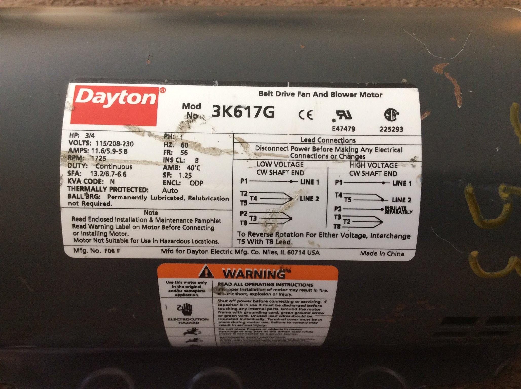 Dayton Electric Motor Model 5k960 A I Need Schematic Striking Wiring Diagram In Gear