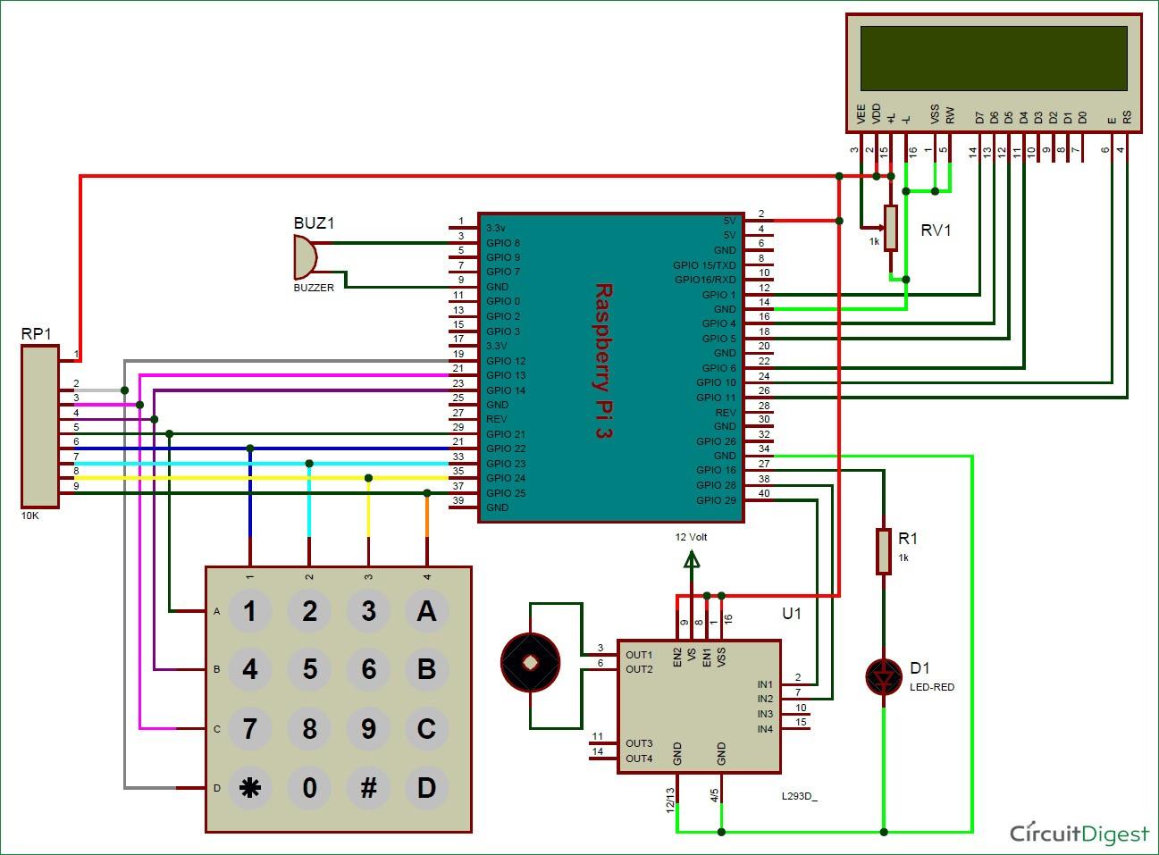 Raspberry Pi Digital Code Lock Circuit Diagram Outstanding