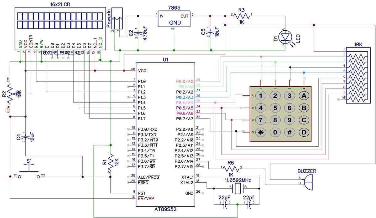 ponent Digital Code Lock Project Using Microcontroller Keypad Programming Projects Tutorial Pic Interface 8051 microcontroller