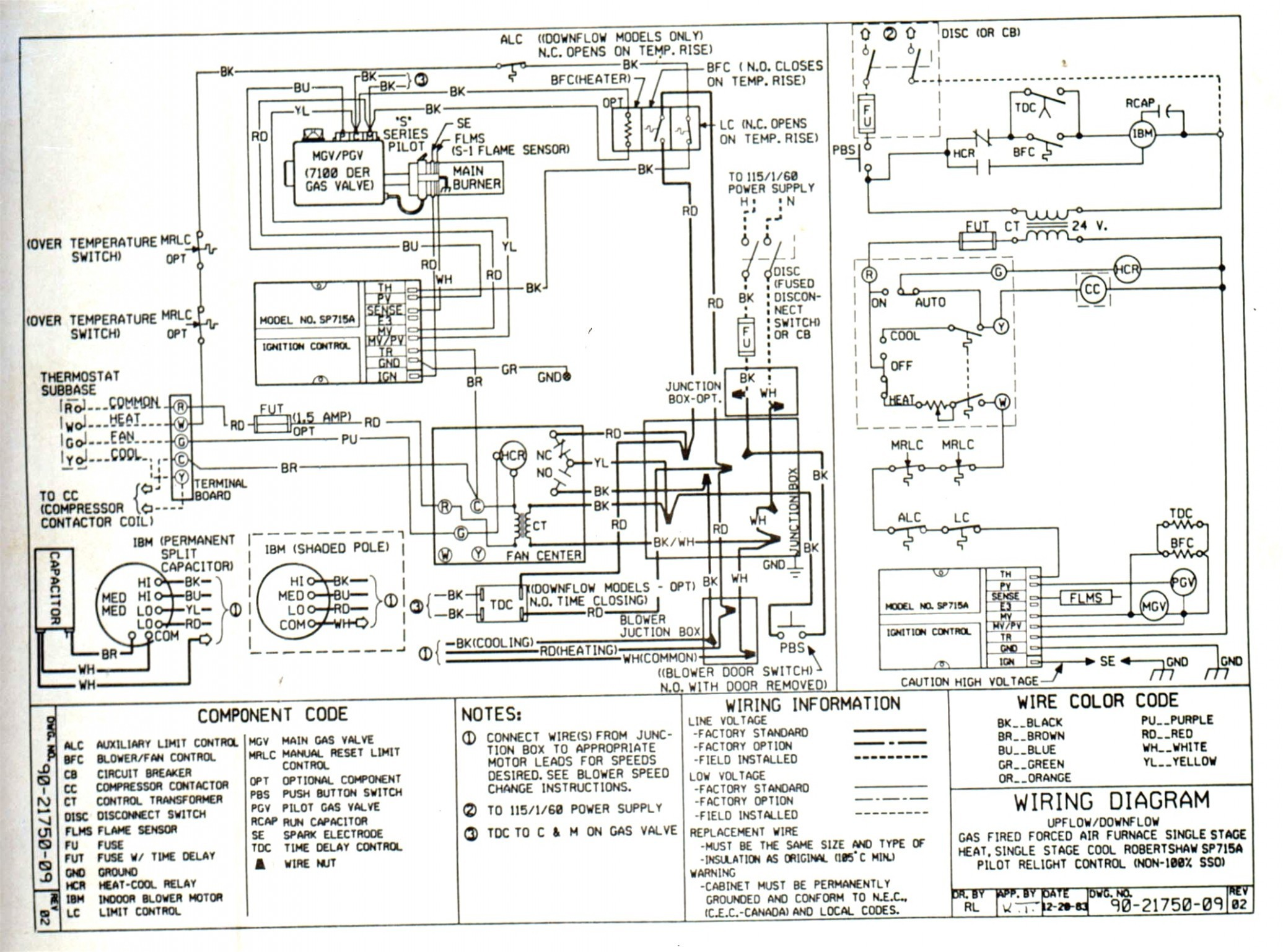 Goodman Electric Furnace Wiring Diagram In Oil Thermostat …