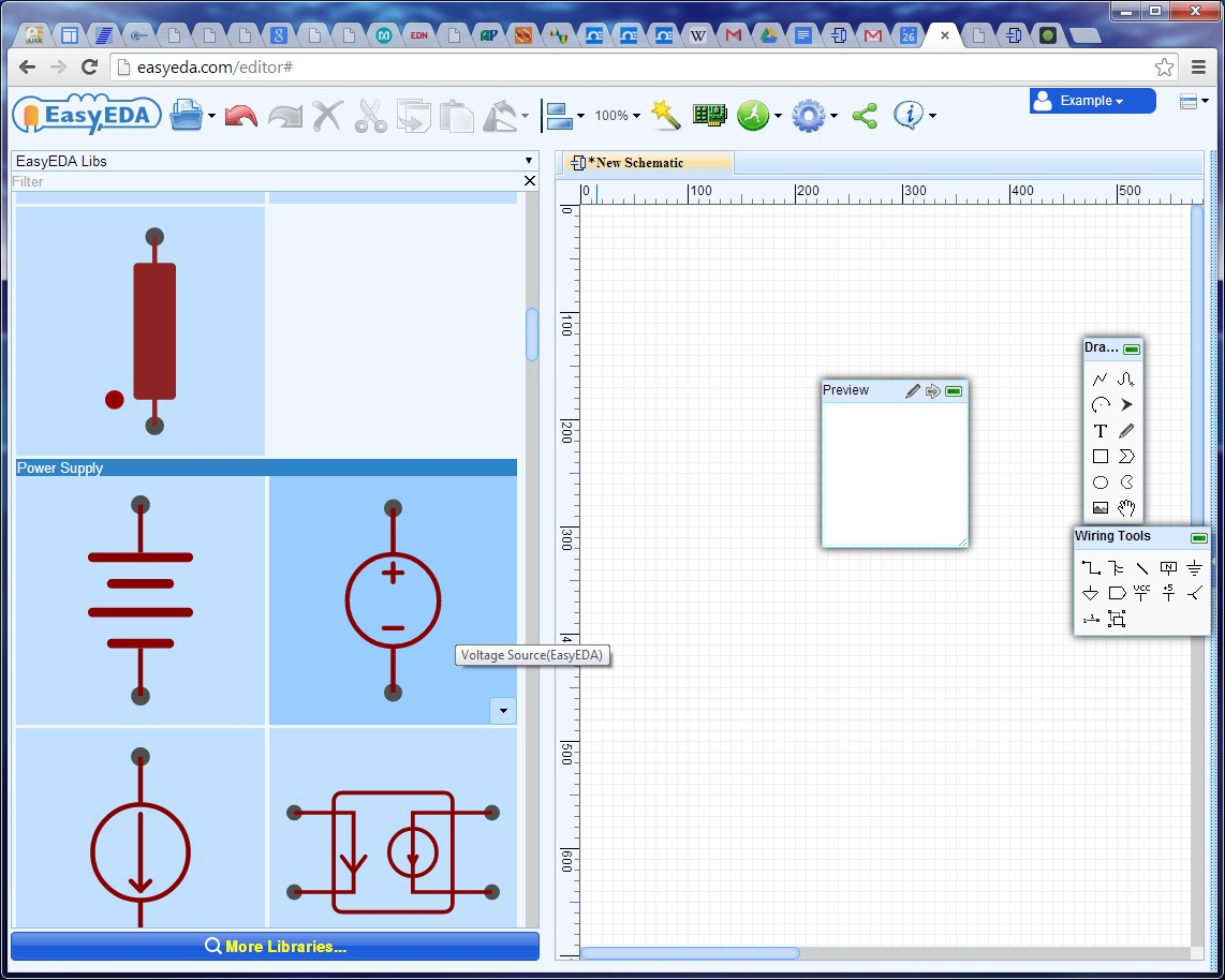 Easyeda Simulation Unique Wiring Diagram Image Is An Amazing Free Online Circuit Simulator Which Very On Schematic Canvas To Place Voltage Source