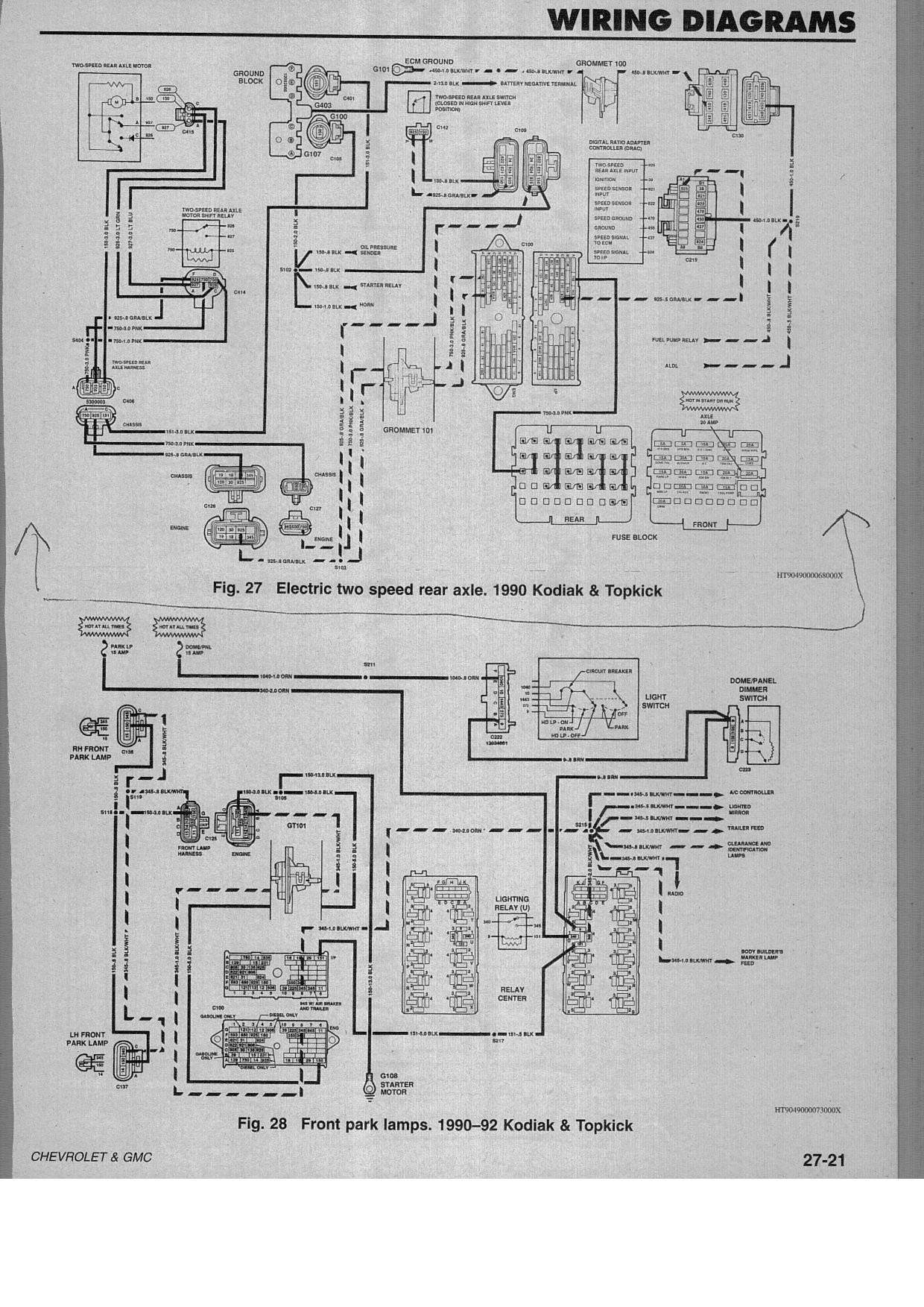1992 chevrolet kodiak wiring diagram complete wiring diagrams chevy kodiak wiring diagram wire center u2022 rh mitzuradio me 1996 chevy 1500 wiring diagram 2000 gmc trailer wiring diagram cheapraybanclubmaster Image collections