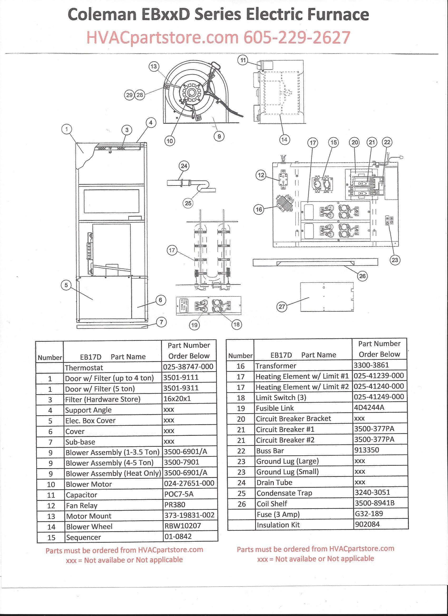Electric Furnace Wiring Diagram Wiring Diagram Image