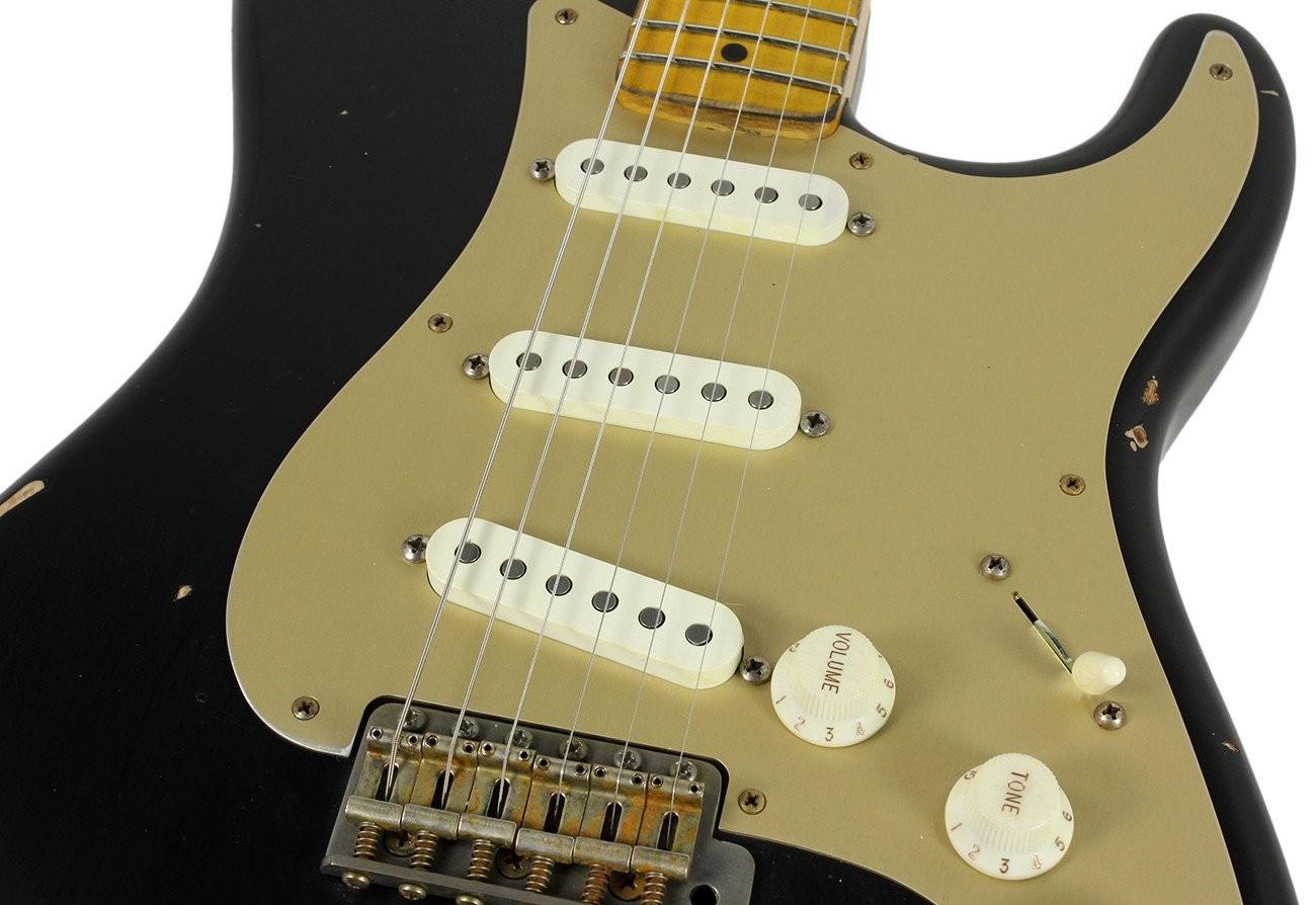 Nash S 57 Guitar Black w Gold Pickguard