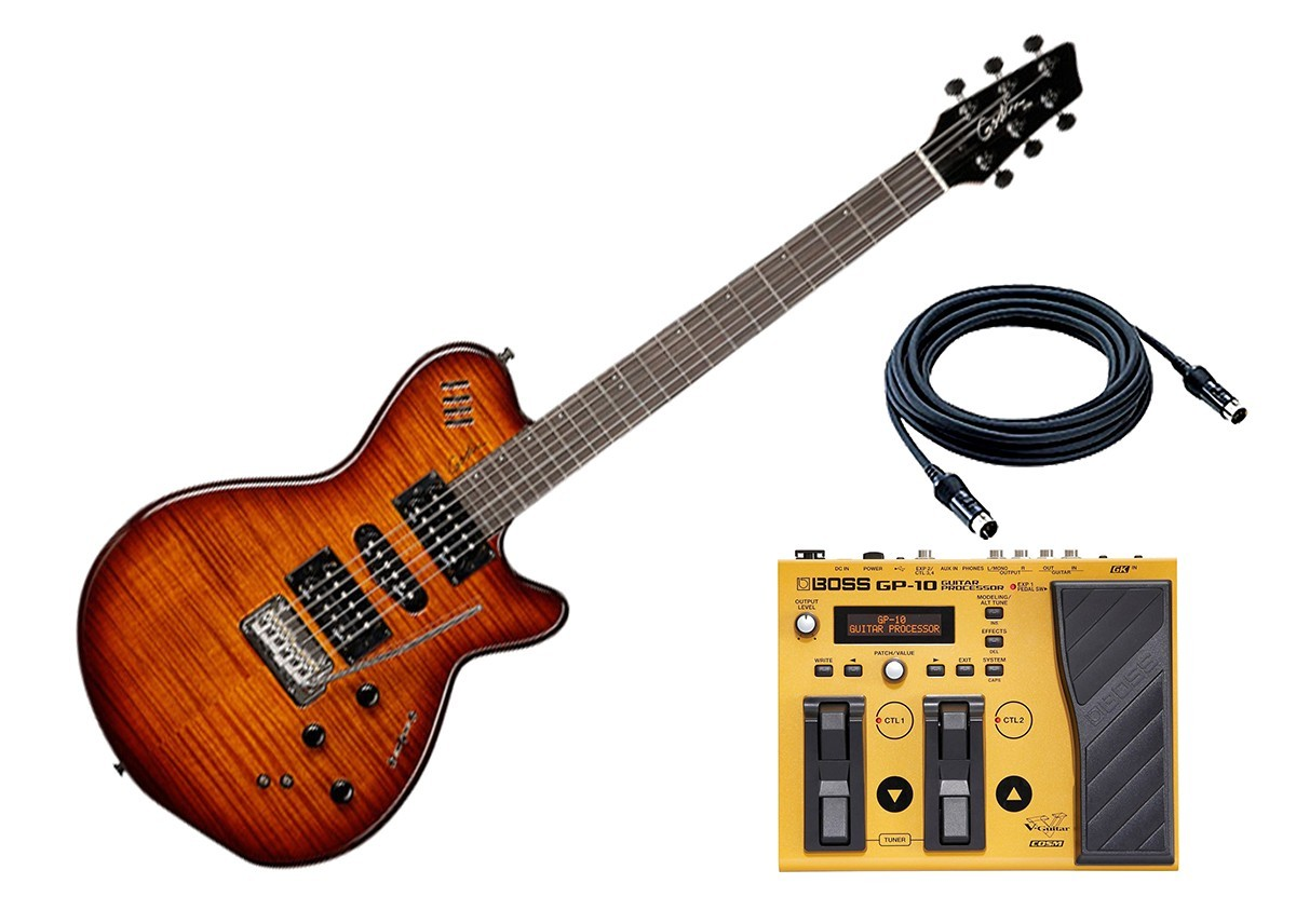 Electric Guitar Input Jack Inspirational Wiring Diagram Image Voice Godin Guitars Xtsa Synth Access 3 Lightburst Hg W Boss Gp 10s Pedal