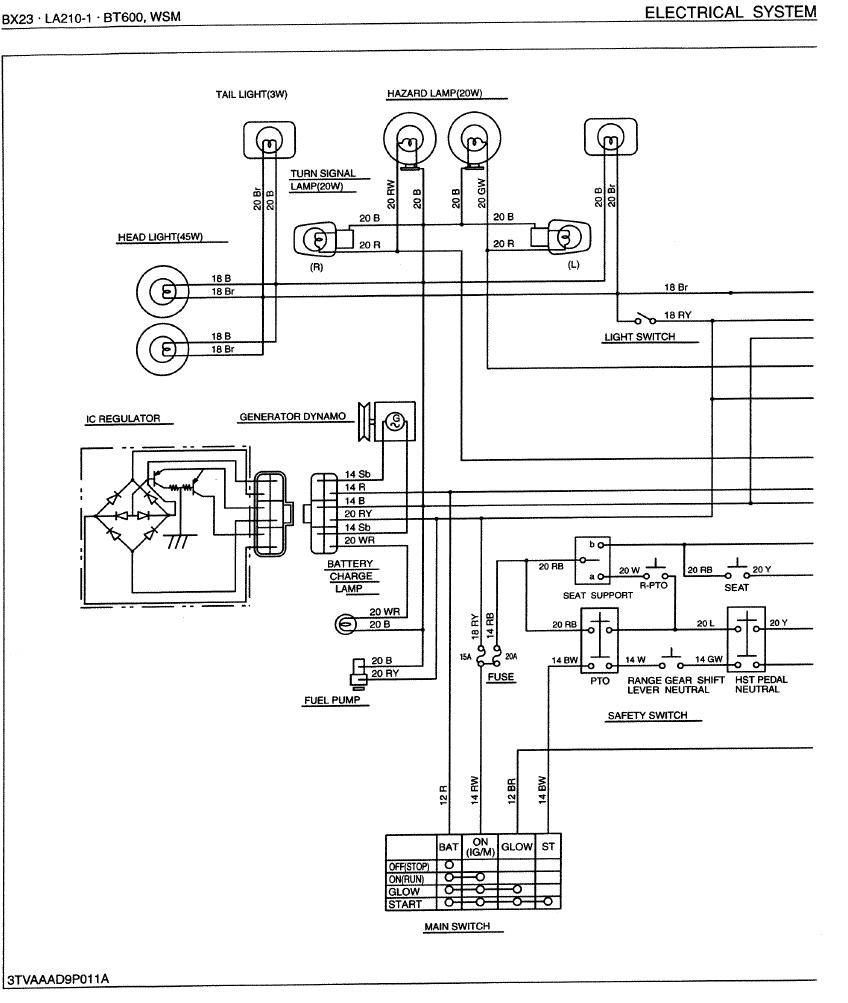 Kubota Tractor Wiring Diagram Internal Regulator Alternator Free 1974 Jeep Cj5 External Voltage Image