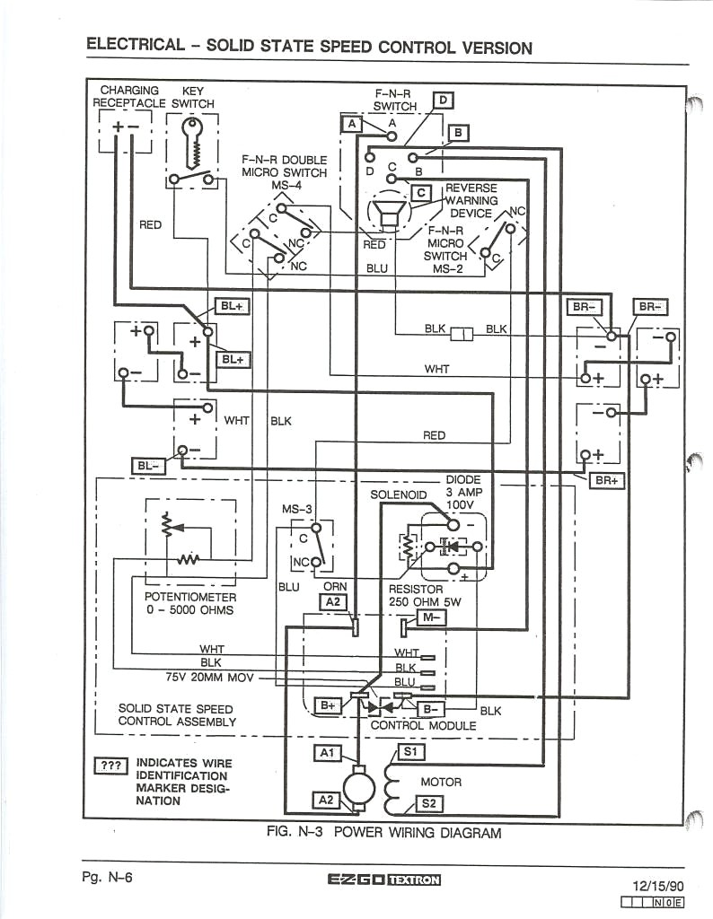 ez go golf cart battery wiring diagram elegant