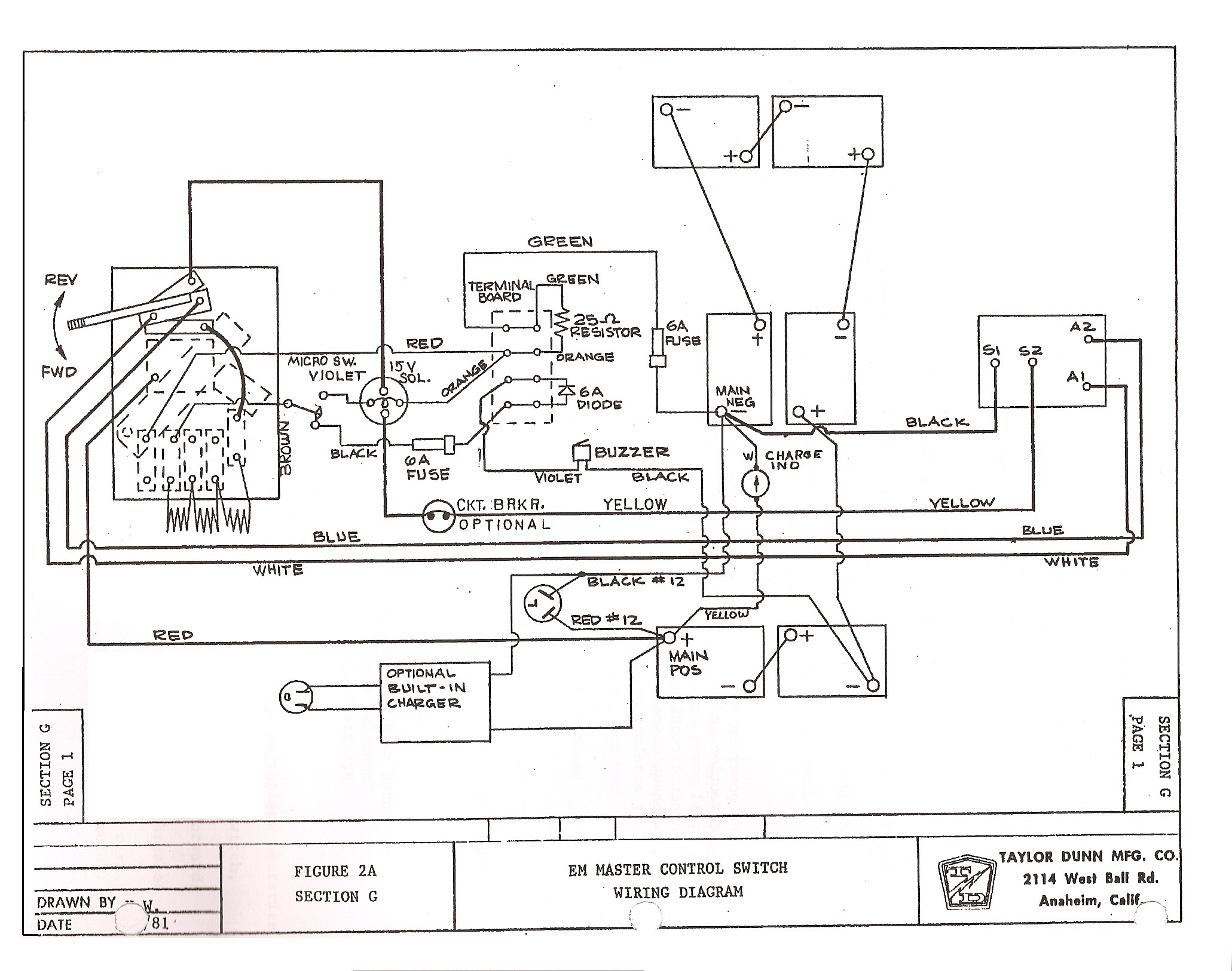 1990 yamaha g2 golf cart wiring diagram