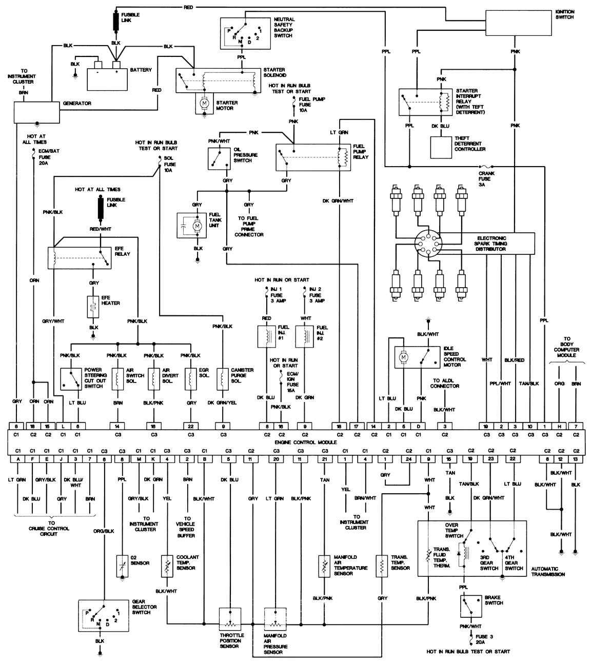 wiring diagram for 1992 cadillac fleetwood