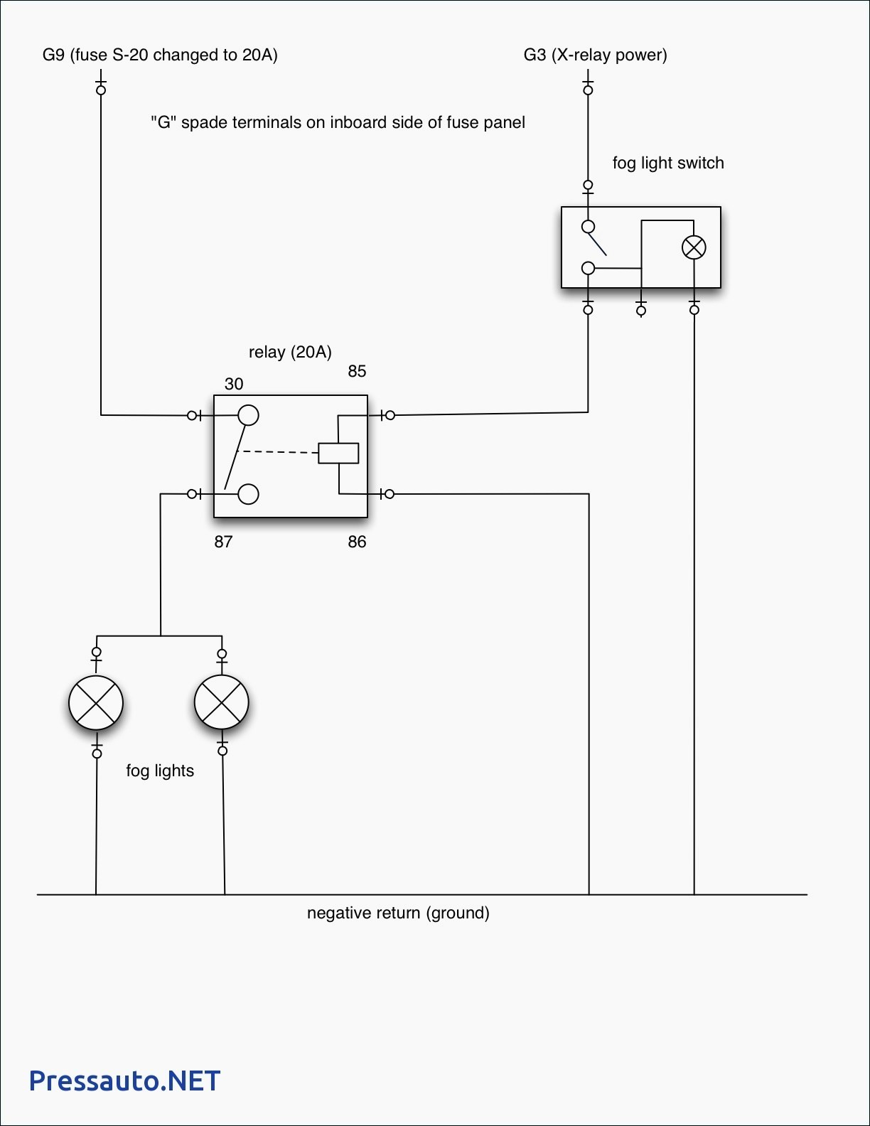 Fog Light Wiring Diagram With Relay