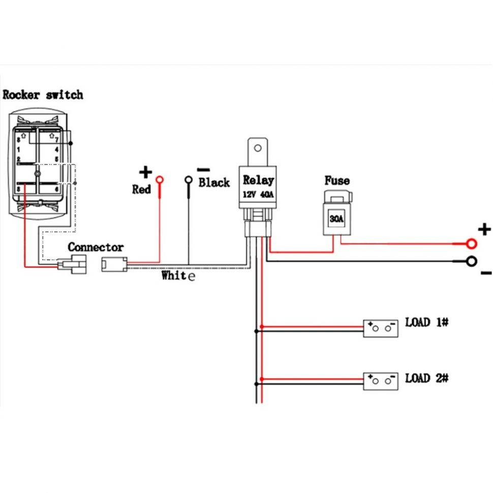 Led Light Bar Wiring Diagram Cree Pdf Without Relay Harness For With  970x970 To