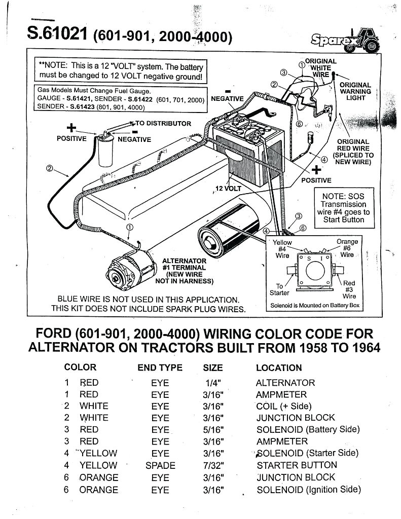 Ford 8n Wiring Diagram 6 Volt Solutions Ignition Coil 1953 Naa Electrical Drawing