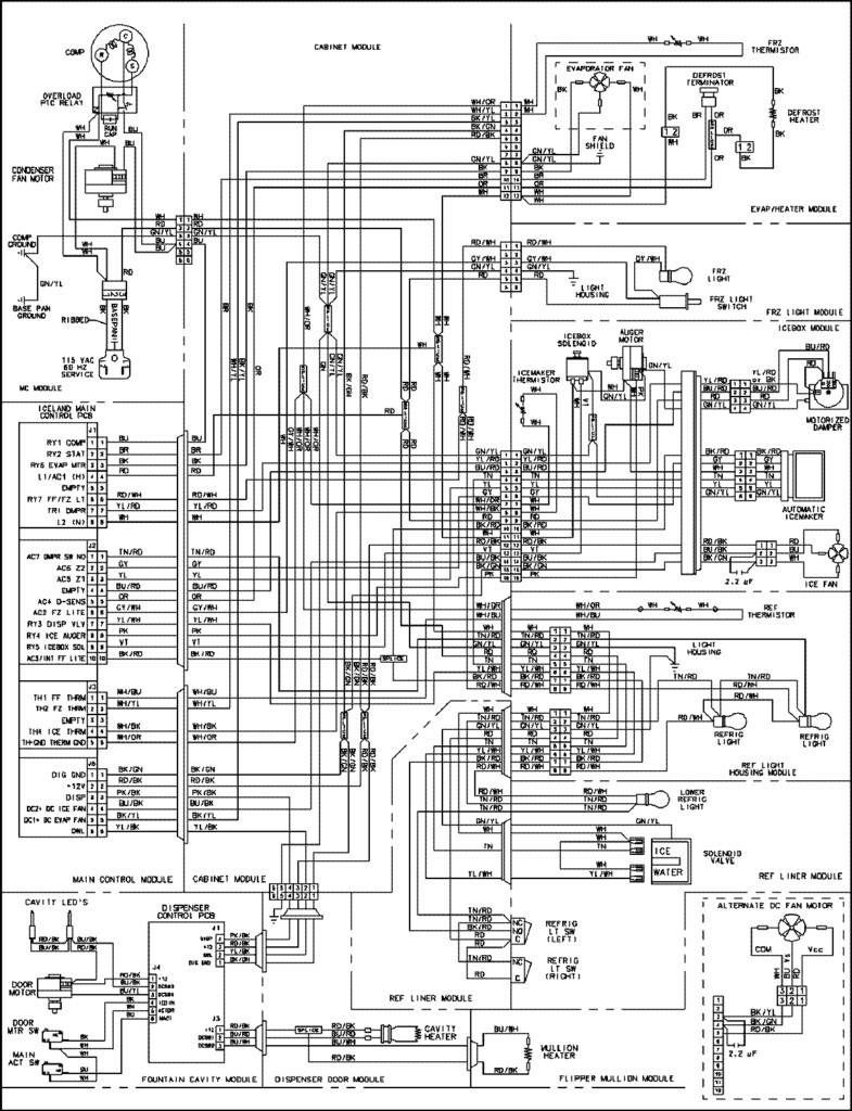 free wiring diagram Ge Refrigerator Ice Maker Wiring Diagram Wiring Diagram of Wiring Diagram