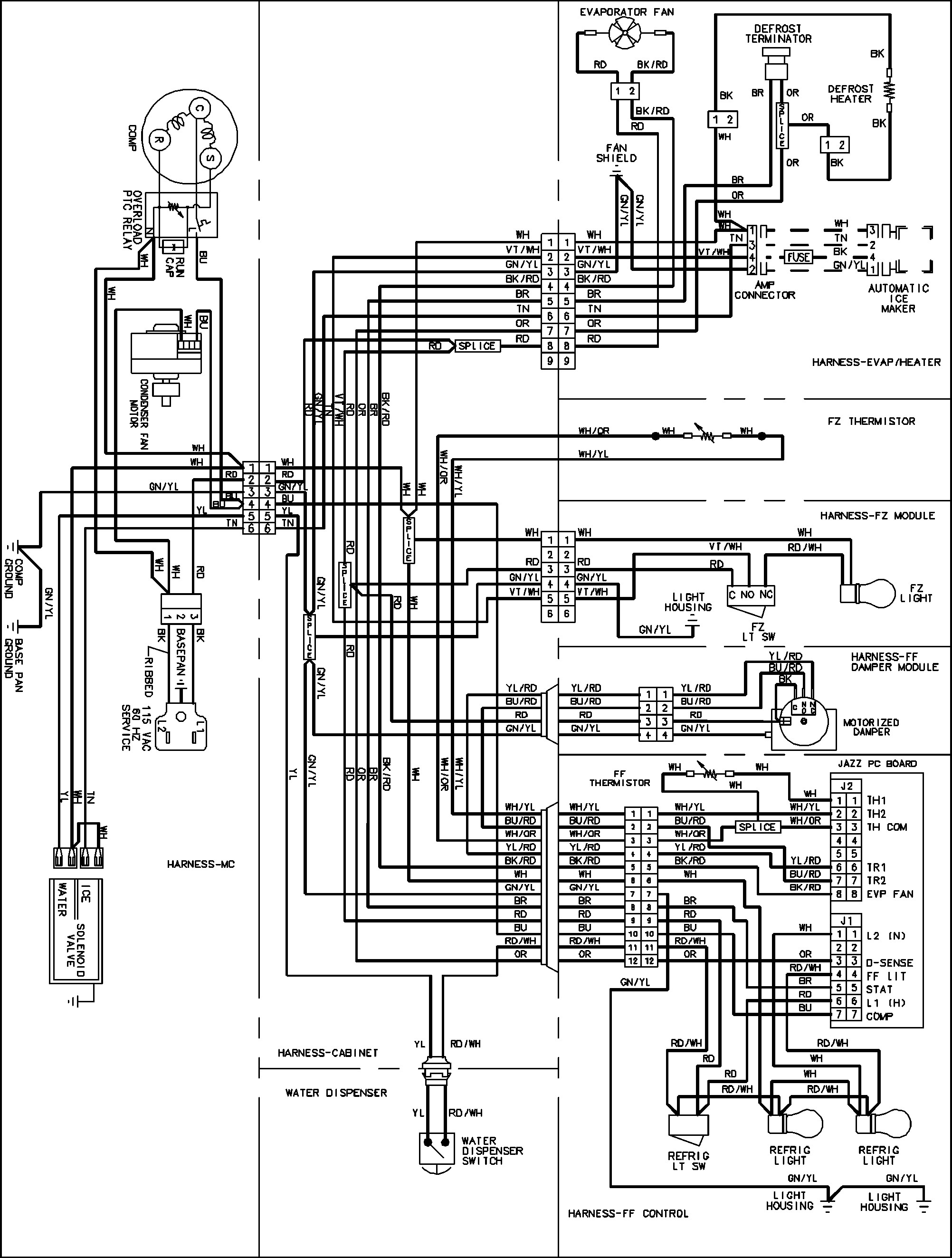 amana wiring diagrams diagram in whirlpool refrigerator health shop me wiring  diagram for whirlpool fridge freezer