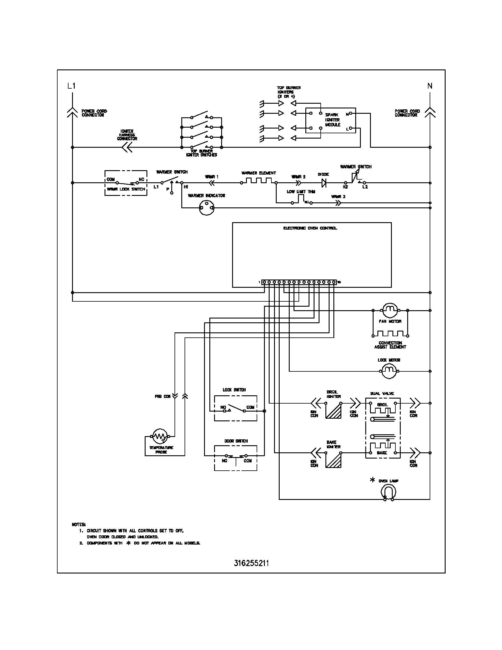 Gas Furnace Wiring Diagram Fine Design General Electric Frigidaire Plgf Ccc Range Schematic Parts Resize
