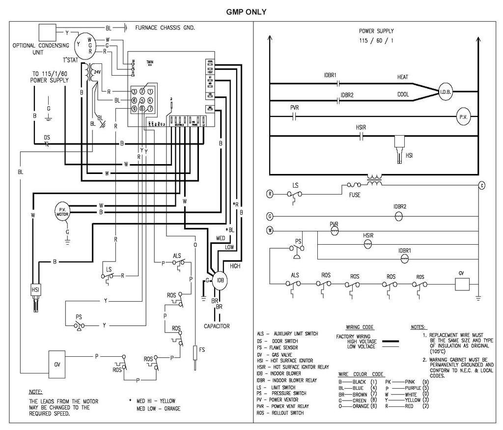 goodman furnace thermostat wiring diagram wiring solutions rh rausco com