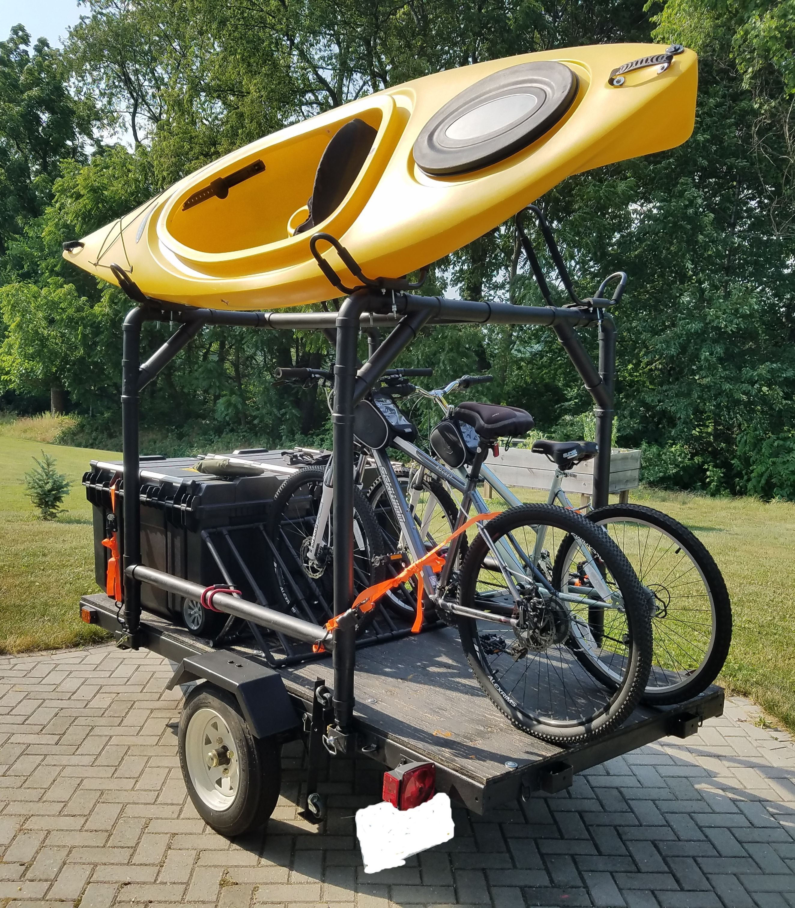 Harbor Freight Trailer MOD Kayak Camping and Bike Trailer KayakTrailer