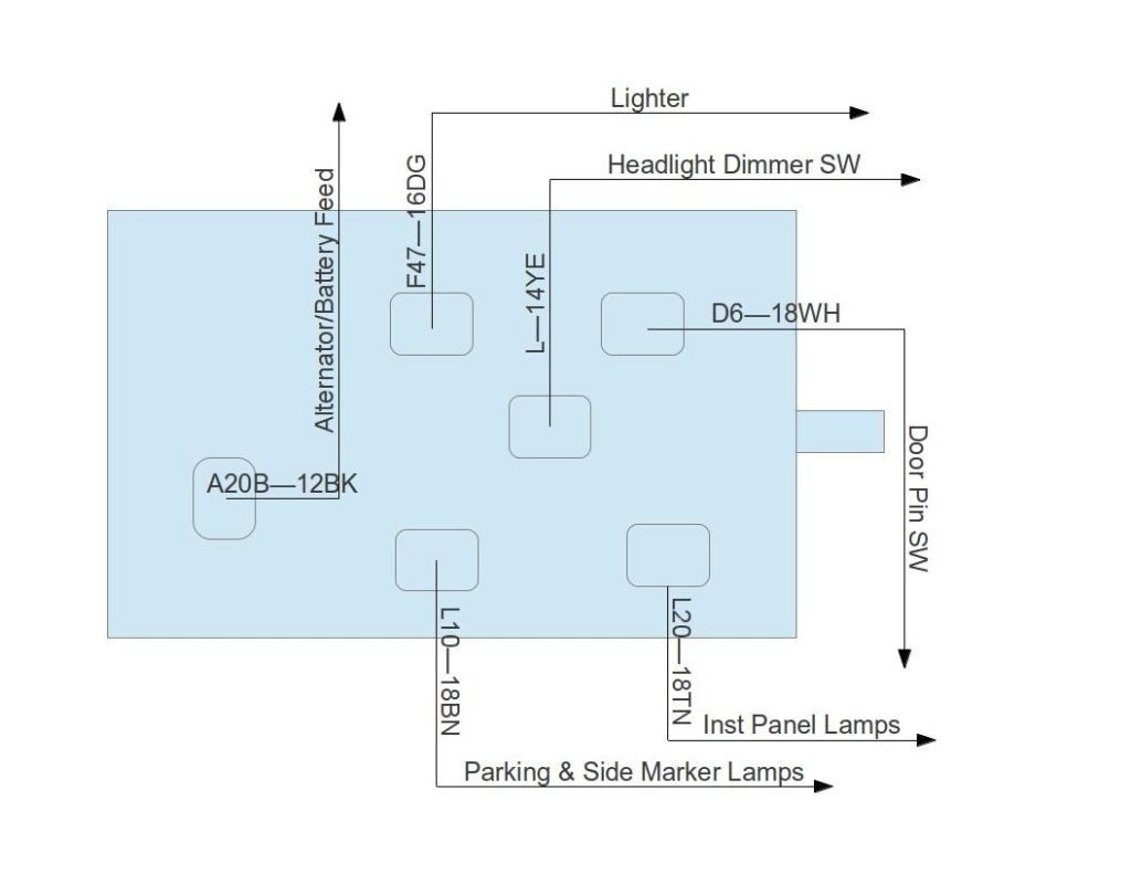 headlight dimmer switch wiring diagram wiring diagram image rh mainetreasurechest com GM Headlight Switch Wiring Diagram headlight dimmer switch wiring diagram