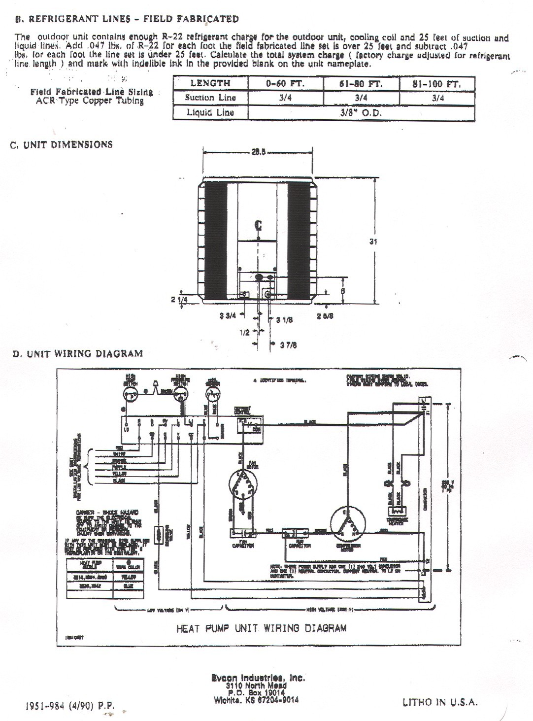 York Heat Pump Wiring Diagram