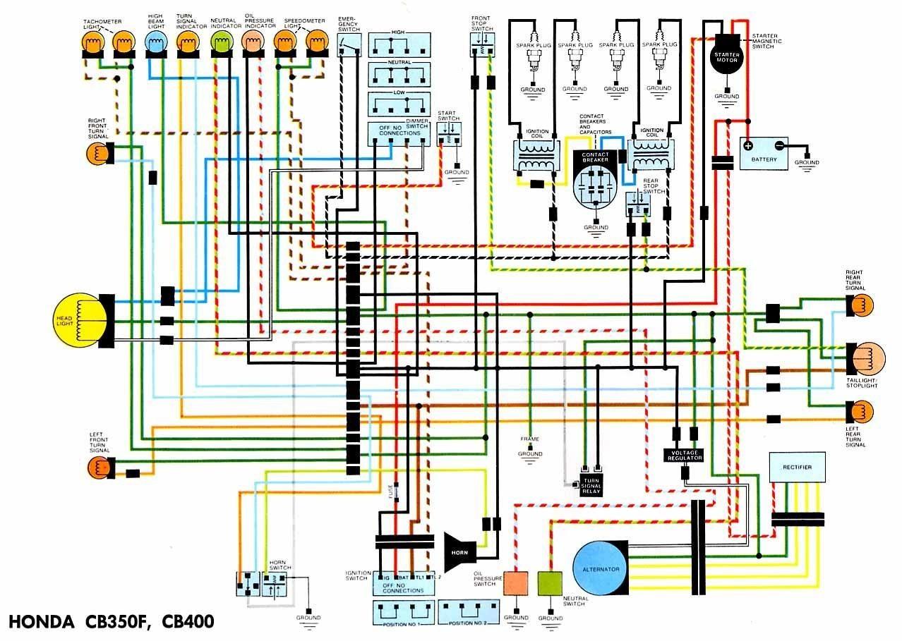 Honda CB350F Wiring Diagram 1278—909