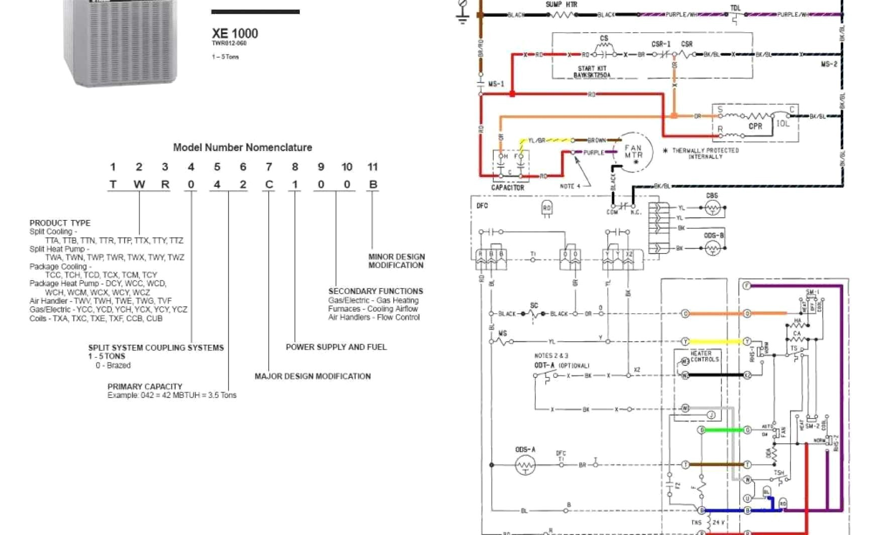 Trane thermostat Wiring Diagram New Wiring Diagram for Trane thermostat Wiring Diagram Sample and Guide