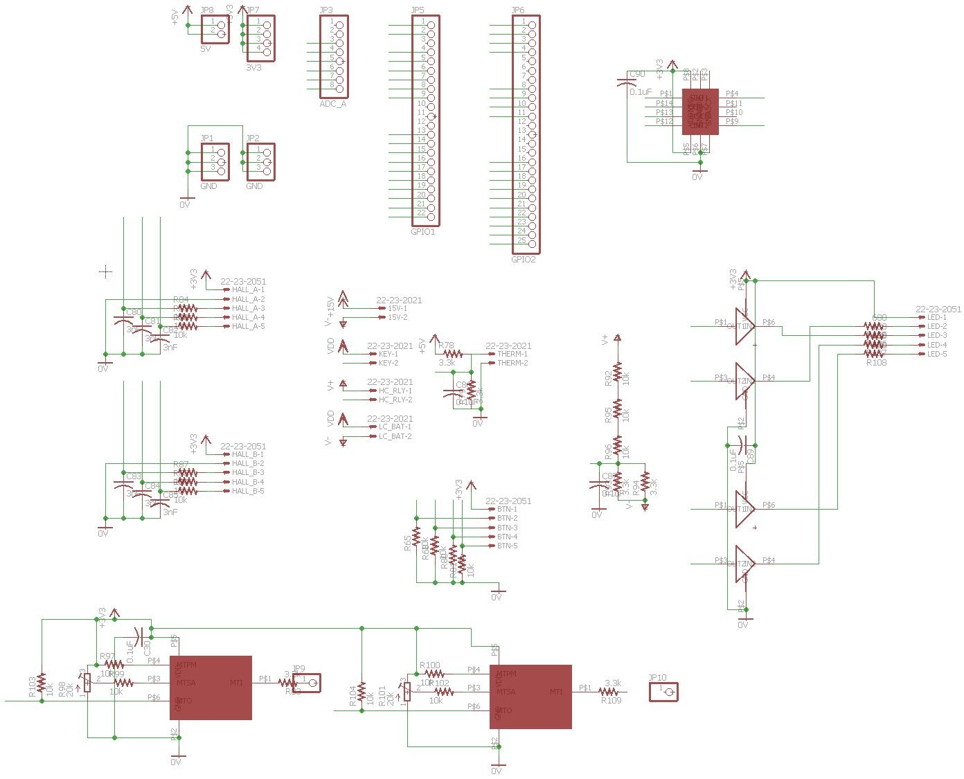 Sensors and connections schematic