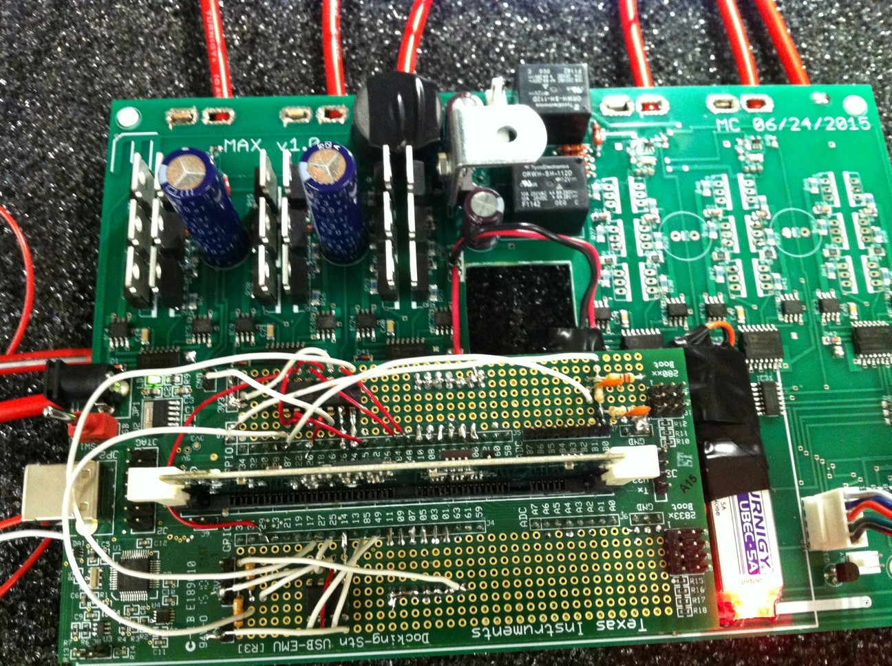 The board is ready for controlling one motor