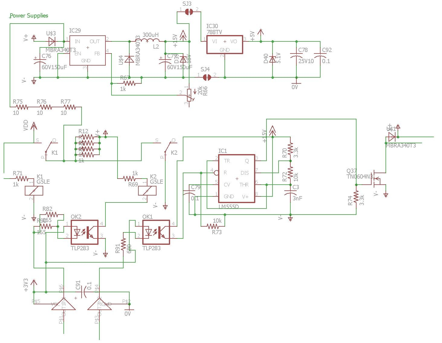 Power supplies schematic