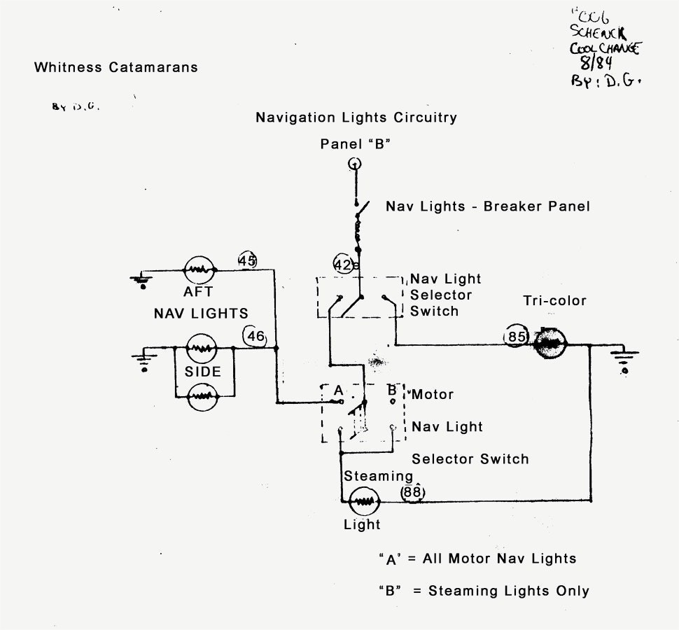 How To Wire Boat Navigation Lights Diagram Wiring Image Up A New Anchor Light Nav 1