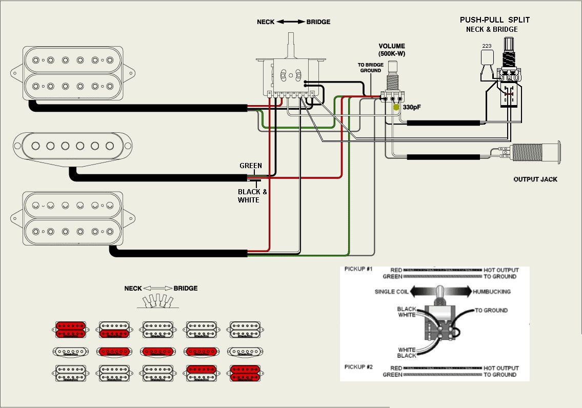 Electric Guitar Hsh Wiring Diagram | Wiring Liry on