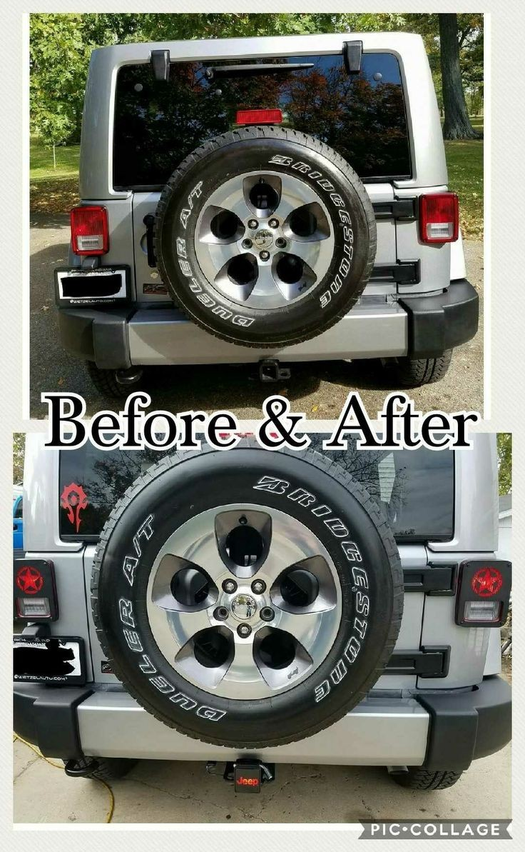 Jeep Wrangler taillight covers & light up hitch Bought on Amazon