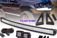 "Jeep Comanche Tail Light Elegant 84 01 Cherokee Xj Anche Mj 50"" Curved Led Light Bar Mount"