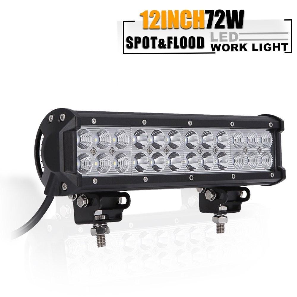 "12"" 72W froad Light Bar Reverse BackUp Fog"