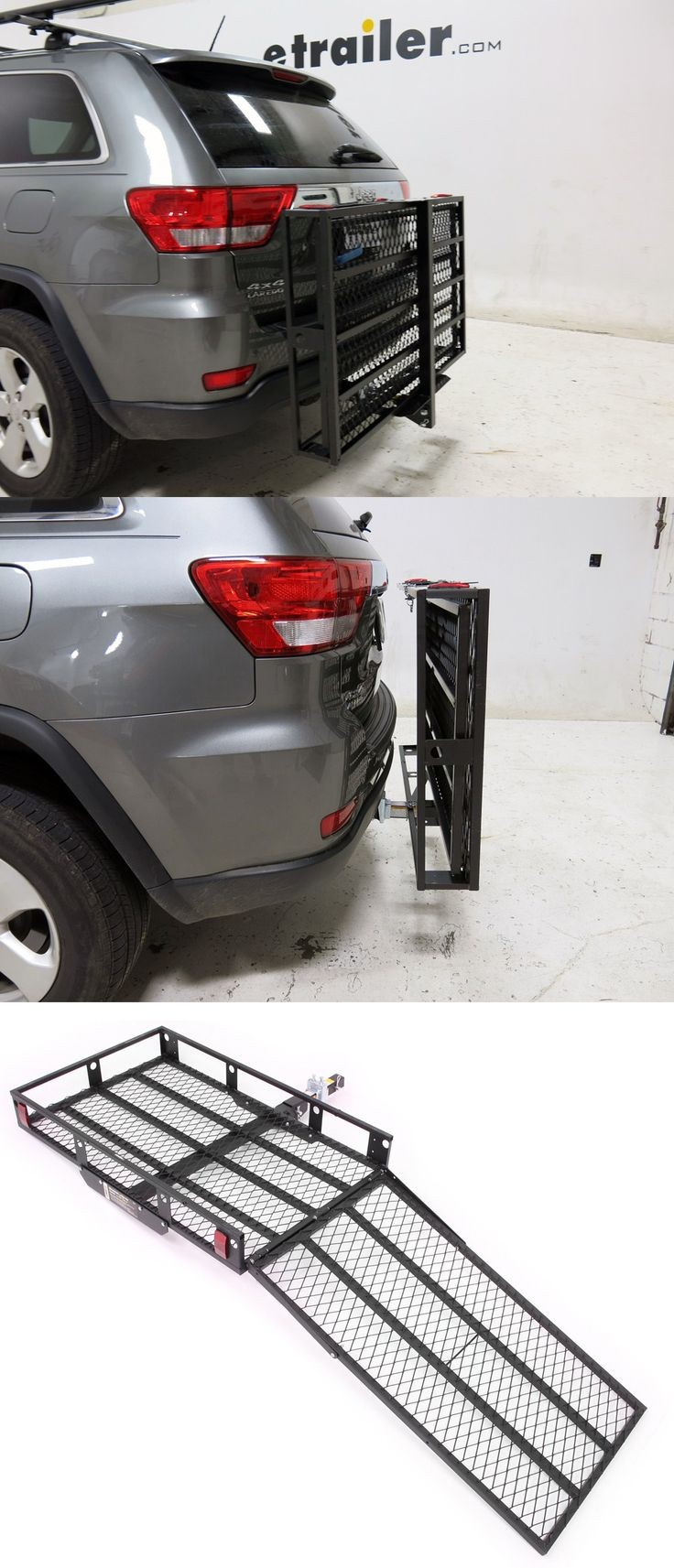 Load or transport a wheelchair or lawn mower with an extra wide cargo carrier