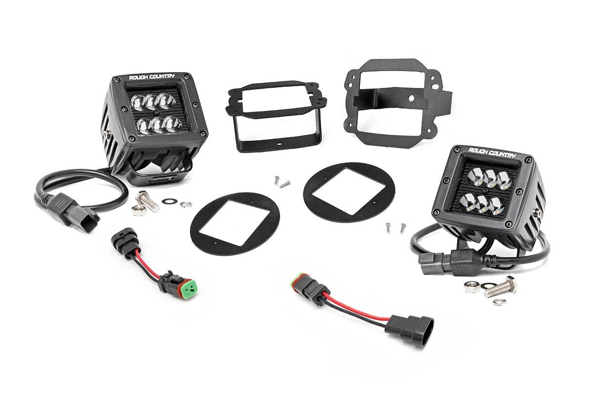 Rough Country Suspension Rough Country Suspension 2 inch Black Series CREE LED Fog Light
