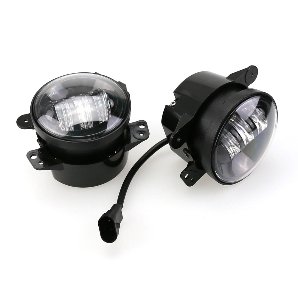 Pair LED Fog Light Kit 30W 4 inch For 07 14 Jeep Wrangler JK Rubicon Sahara in Car Light Assembly from Automobiles & Motorcycles on Aliexpress