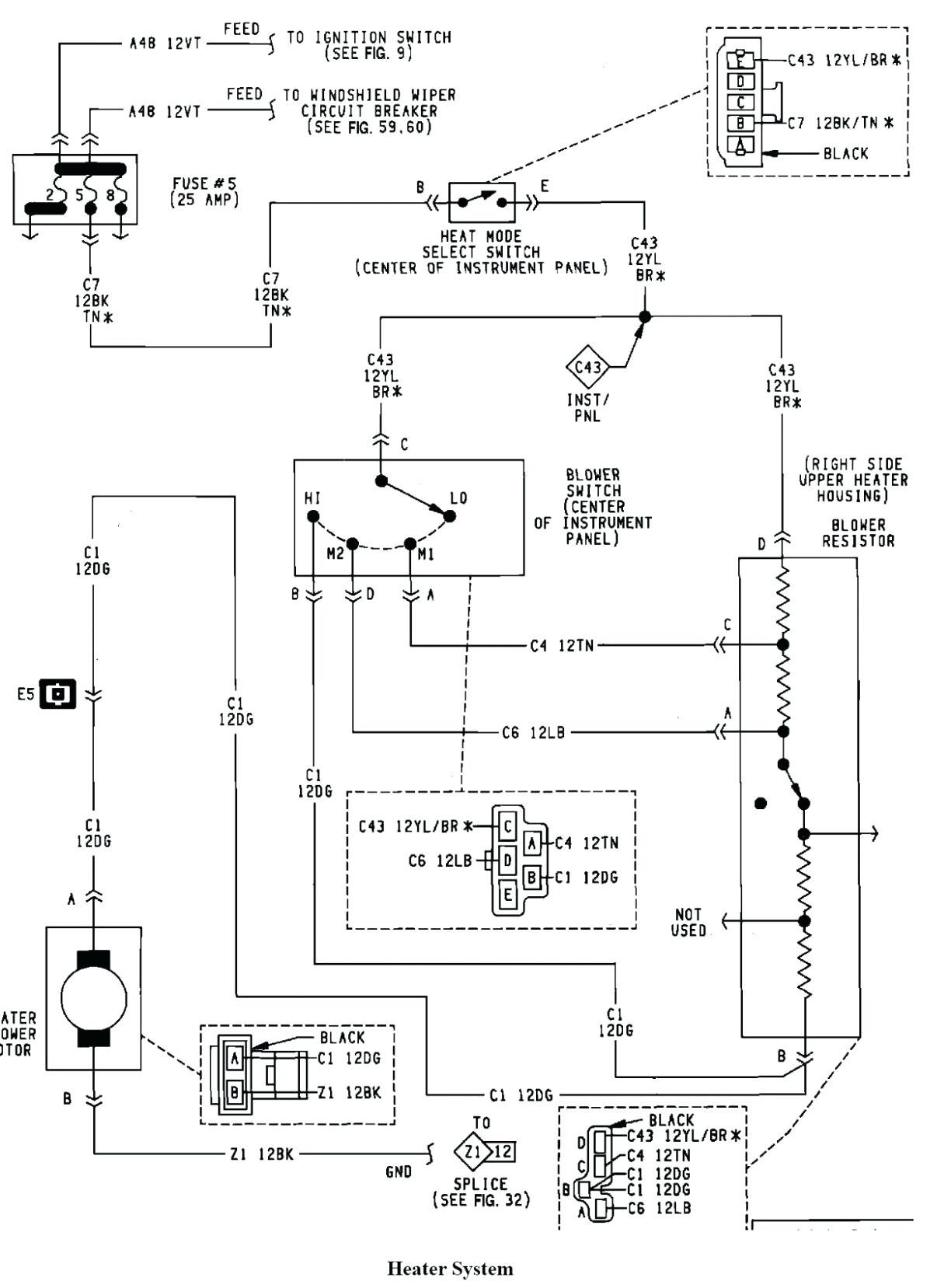 98 Jeep Wrangler Headlight Wiring Diagram - Wiring Diagram ...