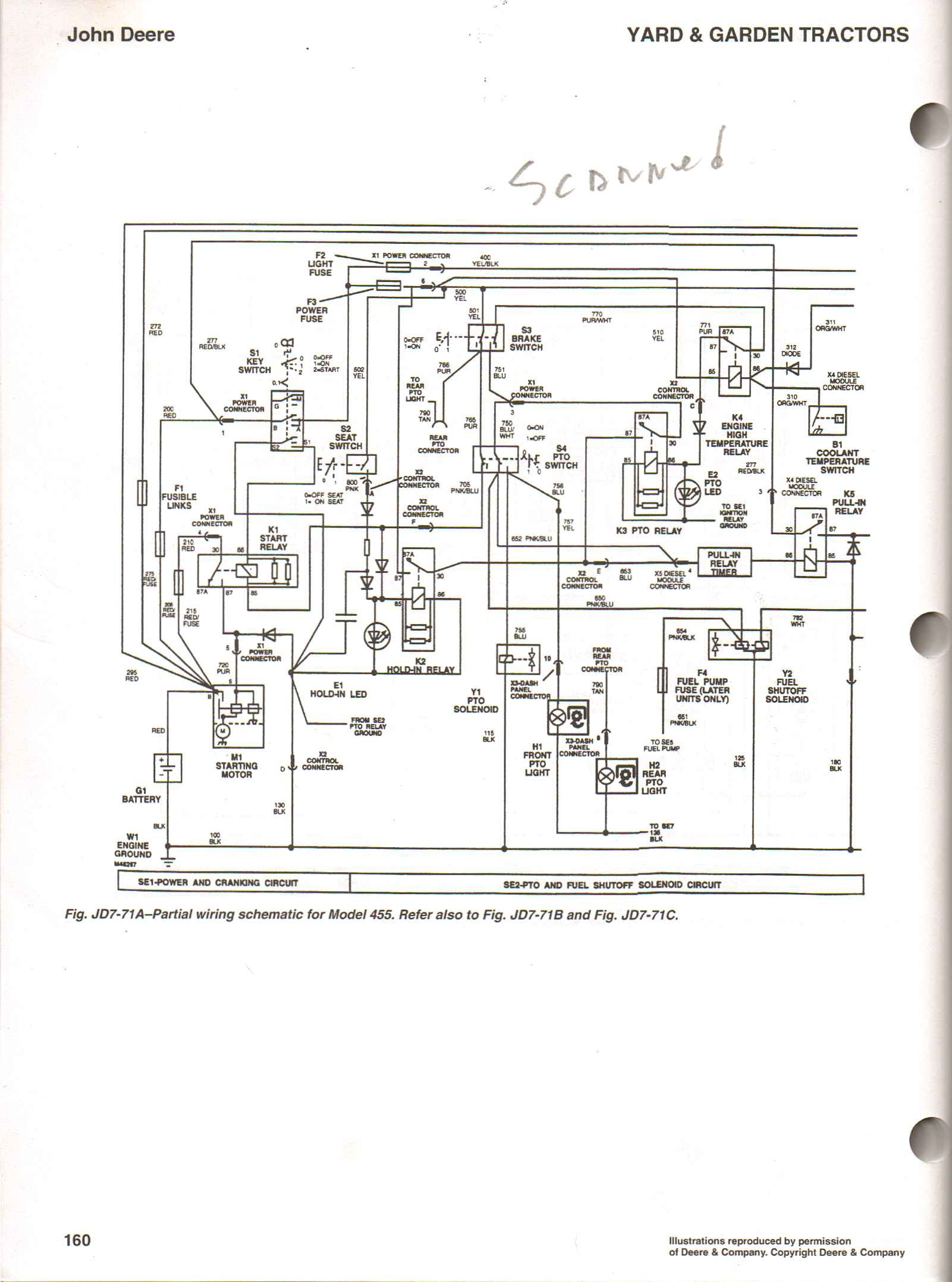john deere 445  wiring diagram b2network co