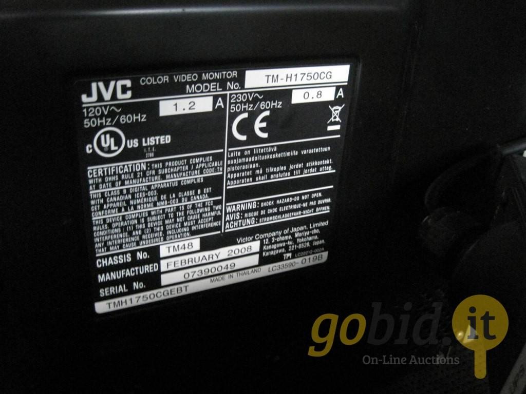 Color video monitor JVC Mod TM H175OGC